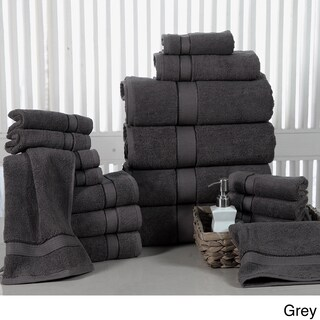 Elegance Spa Luxurious Soft Cotton 600 GSM 18-piece Towel Set (Option: Grey)