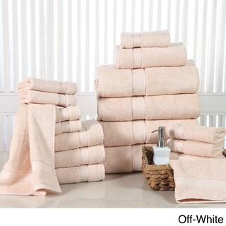 Elegance Spa Luxurious Soft Cotton 600 GSM 18-piece Towel Set (Option: Off-White)