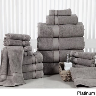 Elegance Spa Luxurious Soft Cotton 600 GSM 18-piece Towel Set (More options available)
