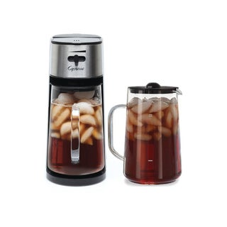 Capresso Iced Tea Maker with 80oz Glass Carafe and Glass Ice Tea Pitcher