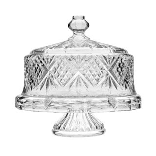 Godinger Dublin Crystal Cake Plate with Dome