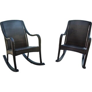 Hanover Outdoor Orleans Brown 2-piece Rocking Chair Set