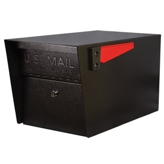 Mail Boss Black Galvanized Steel Locking Security Mailbox