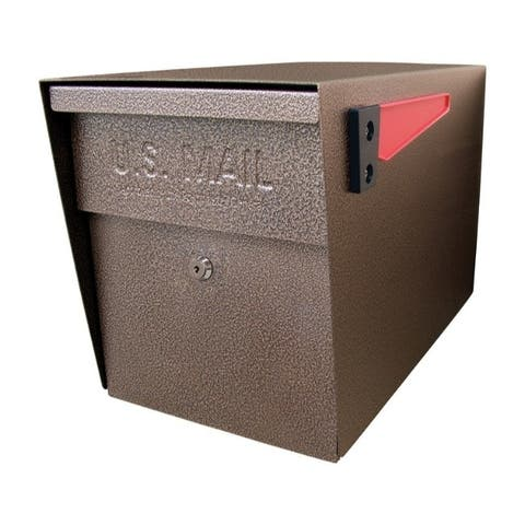 Mail Boss Classic Curbside 13-1/4 in. H x 13-1/4 in. H x 21 in. L x 11-1/4 in. W Lockable Mailbox