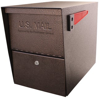 Package Master Brown Galvanized Steel Locking Security Mailbox