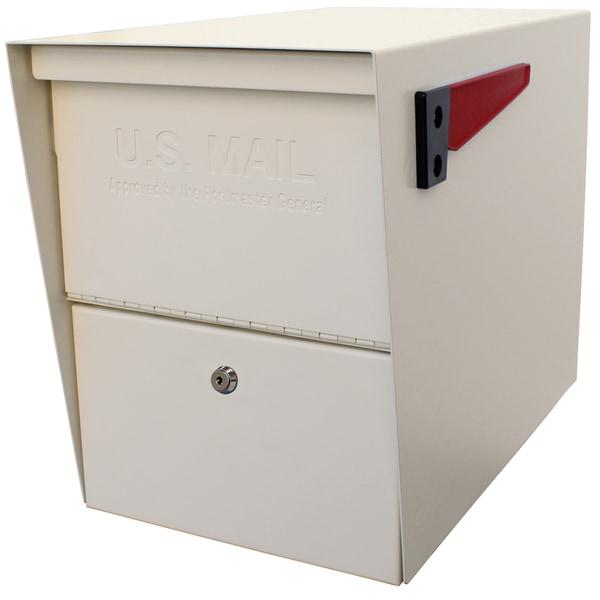 Package Master Off-white Metal Locking Security Mailbox