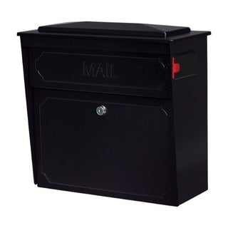 Townhouse Wall Mount Mailboss Black Metal High-Security Locking Mailbox