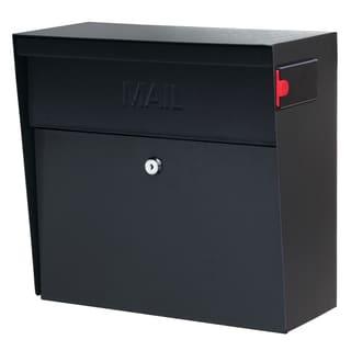 Metro MailBoss Black Metal Locking Security Mailbox