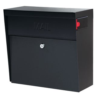 Metro MailBoss Black Metal Locking Security Mailbox