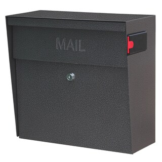 Metro 7160 Black and Silver Metal 15.3-inch x 14.5-inch x 7.8-inch Wall-mount Locking Security Mailbox