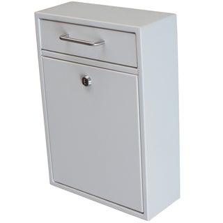 Mail Boss Off-white Metal Locking Security Drop Box