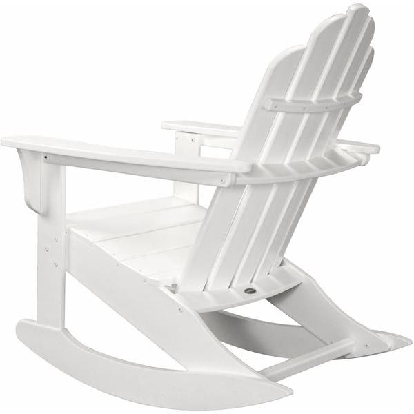 designer fashion da573 5d2d9 Hanover Outdoor HVLNR10WH White HDPE All-Weather Adirondack Rocking Chair