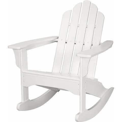 Hanover Outdoor HVLNR10WH White HDPE All-Weather Adirondack Rocking Chair