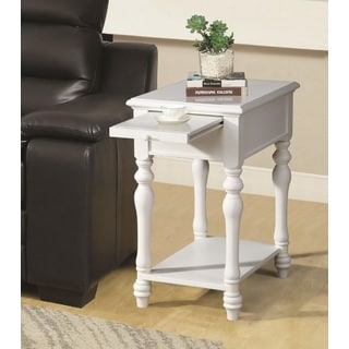 Alina White Side Table