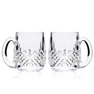 Godinger Dublin Clear Crystal 18-ounce Beer Mugs (Set of 2)