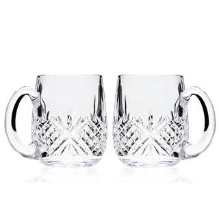 Godinger Dublin Clear Crystal 18-ounce Beer Mugs (Set of 2)