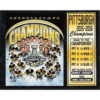 Pittsburgh Penguins 2016 Stanley Cup Champions 12-inch x 15-inch Stats Wall Plaque