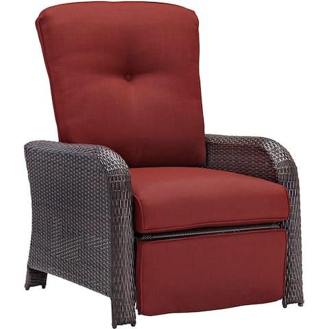 Hanover Outdoor Strathmere Crimson Red Luxury Recliner