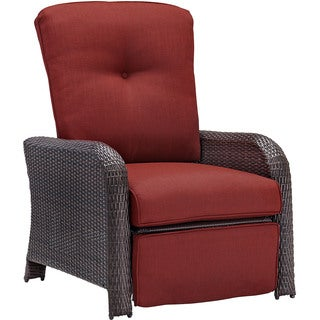 Hanover Outdoor STRATHRECRED Strathmere Crimson Red Luxury Recliner  sc 1 st  Overstock.com & Recliners Patio Furniture - Shop The Best Outdoor Seating u0026 Dining ... islam-shia.org