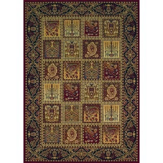 Regal Burgundy Traditional Woven Rug (3'7 x 5'6)