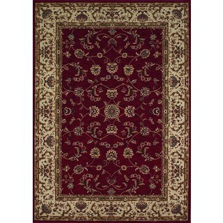 Regal Black Traditional Woven Polypropelene Rug (3'7 x 5'6)