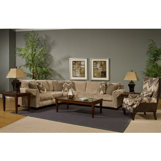 Cantebury Beige Fabric 2-piece Sectional