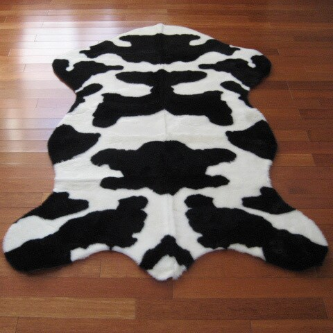 Cow Hide Faux Fur Rug