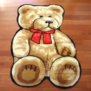 "Classic Teddy Bear Playmat Rug (3'3 x 4'7) - 3'3"" x 4'7"""