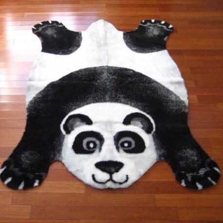 Walk On Me Panda Bear Playmat Rug (3'3 x 4'7) (3x5), Blac...