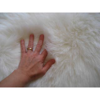 Snowy White Polar Bear Pelt Faux