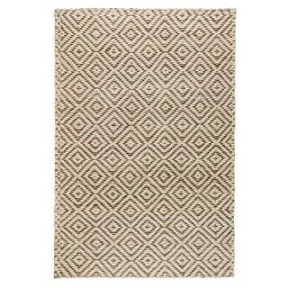 Kosas Home Amelia Ivory/Grey Handwoven Jute Rug (8' x 10')