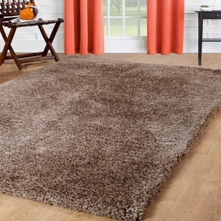 Affinity Home Solid-colored Polypropylene Shag Area Rug (8' x 10')