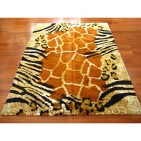 Safari Kenya Faux Fur Rectangle Rug (4'7 x 6'7)