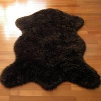 Classic Brown Bear Pelt Faux Fur Rug