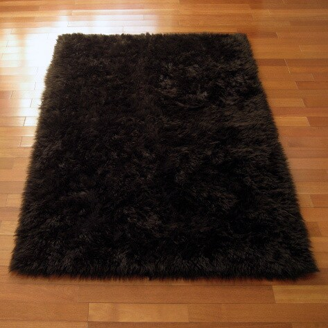 Classic Brown Bear Faux Fur Rectangle Rug
