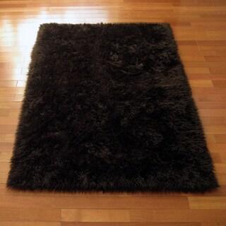 Classic Brown Bear Faux Fur Rectangle Rug (2'3 x 3'7)