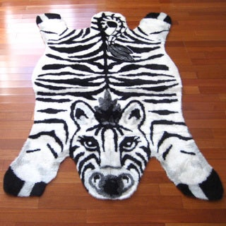 Zebra Playmat Rug (2'3 x 3'7)