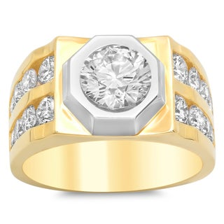 Artistry Collections Men's 14k Two-tone Gold and Diamond Ring