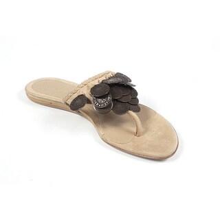 Alexander McQueen Women's 158734 C2000 2700 Beige Suede Sandals