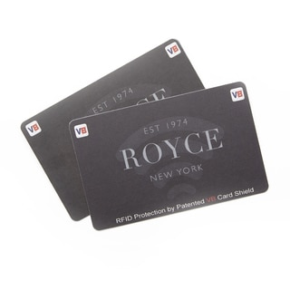 Royce Leather Black Plastic RFID-blocking Credit Card and ID Protector (Set of 2)