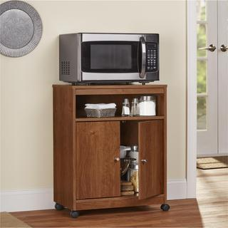 Porch & Den Wicker Park Moffat Bank Alder Microwave Cart