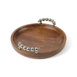 Uttermost Acela Natural Wood Round Wine Tray Free