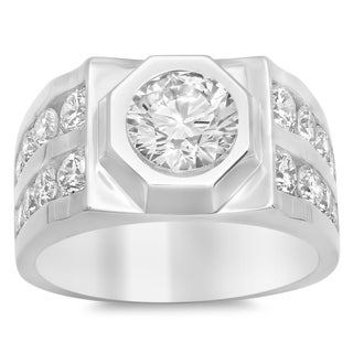 Artistry Collections Men's 14k White Gold 5-carat TDW Diamond Ring
