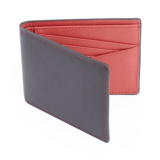 Royce Leather 100-step Wallet RFID Men's Slim Bifold Wallet (Option: Blue)