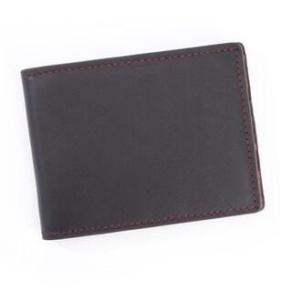 Royce Leather 100-step Wallet RFID Men's Slim Bifold Wallet (Option: Blue)