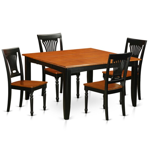 Modern Cherry and Black Finish Rubberwood 5 piece Dining  : PFPL5 BCH W 5 PC Dining room set Dining table and 4 Solid Wood Dining chairs f3688bae 5a83 4feb 9509 03699a94abe2600 from www.overstock.com size 600 x 600 jpeg 28kB