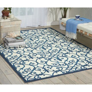 Nourison Home and Garden Blue Rug (10' x 13')