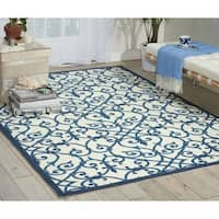 Nourison Home and Garden Blue Indoor/ Outdoor Rug - 10' x 13'