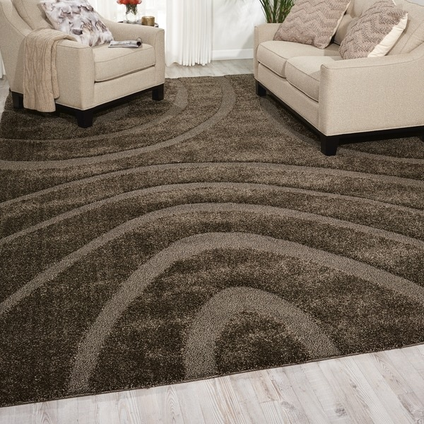 Shop Nourison Austin Stone Shag Area Rug 10 X 13 On