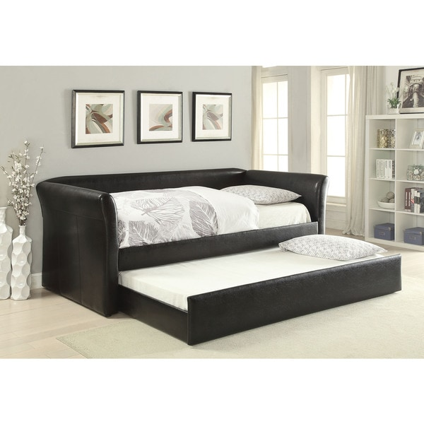 Misthill Black PU Daybed and Trundle